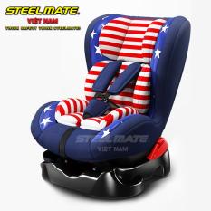 [CHÍNH HÃNG] Ghế ngồi ô tô an toàn STEELMATE chính hãng cho bé – Nằm xoay đa hướng tiện lợi, cho bé thoải mái mọi tư thế – Chất liệu cao cấp thoáng khí mềm nâng niu bé yêu – Góc mở gập lớn 165 độ cho bé nằm ngồi ngủ tự do – CAR25