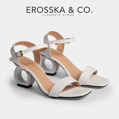 Giày nữ, giày cao gót vuông thời trang Erosska hở gót quai hậu tinh tế cao 5cm (BA) – EB009