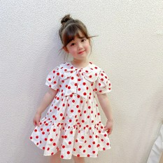 Váy đầm công chúa chấm bi cho bé gái từ 8-20kg