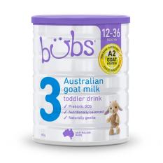 [DATE 2022] Sữa dê Bubs Organic 800gr số 3 dành cho trẻ 12-36 tháng tuổi – Dành cho trẻ bị dị ứng sữa bò, cơ địa nhạy cảm Tolder Fomula