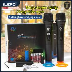 Micro loa kéo chuyên dành cho mọi loa kéo amly hát nhẹ và êm micro Không Dây phù hợp cho những bữa tiệc dã ngoại bảo hành 12 Tháng MV01 micro hát karaoke