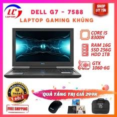 Laptop Chơi Game Chuyên Nghiệp Chính Hãng, Laptop Gaming Giá Rẻ Dell G7 Series 7588, i5-8300H, VGA Nvidia GTX 1050Ti, Màn 15.6 fullHD IPS, LaptopLC298