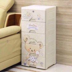 Tủ nhựa gấu 5 tầng có khóa ( cho mẹ và bé )