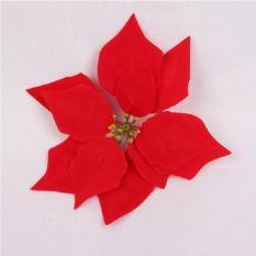 Combo 10 hoa trạng nguyên nhung đỏ trang trí Noel