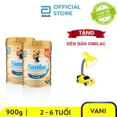 Bộ 2 Lon sữa bột Similac IQ 4 900g Tặng đèn bàn Similac
