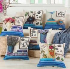 Vỏ Gối tựa lưng, gối sofa, gối trang trí HOA CỎ Sang Trọng vải bố dày dặn