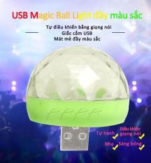 7 màu Đèn LED chiếu vũ trường mini cầm tay cảm ứng âm thanh cổng USB Thiết kế nhỏ gọn chiếu sáng xa