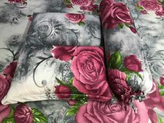 Bộ drap thun hoa hồng 3D kt 1M6/ 4 món