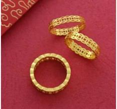 Nhẫn Xi Vàng 18K Kim Tiền Hàng Thái ( Đủ size )