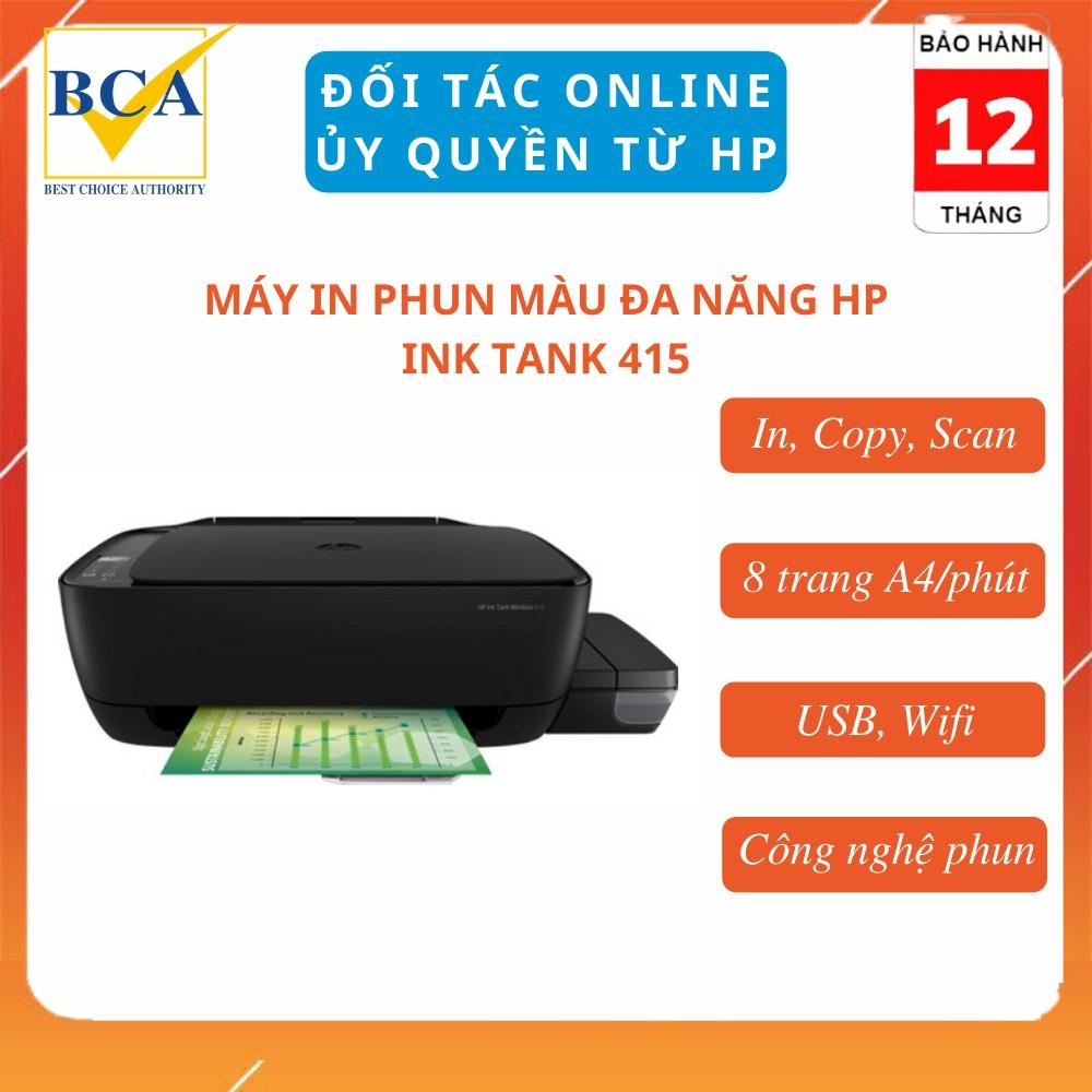Máy in phun đa năng HP Ink Tank 415 (In, Copy, Scan, Wifi) _ Z4B53A