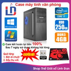 Case máy tính CPU Dual Core E7/8xxx / Core i7-2600 / Ram 4GB / HDD 250GB-500GB / SSD 120GB-240GB + [QUÀ TẶNG: USB thu wifi + bàn di chuột] – LLD