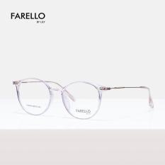 Gọng kính cận nam nữ mắt tròn FARELLO , mắt kính nhựa phối hợp càng sắt , màu sắc đa dạng , phù hợp với nhiều khuôn mặt YONA 00004