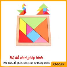Bộ đồ chơi ghép hình thông minh trò chơi trí uẩn 7 miếng ghép Kagonk K71019