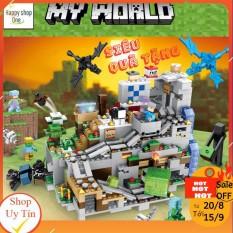 [Lego Minecraft] Lê Gô Đồ Chơi Xếp Hình Hang Động Trên Đỉnh Núi Tuyết [NEW 2020]