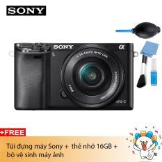 Máy ảnh Sony Alpha A6000 Kit 16-50mm F3.5-5.6 Đen – Chính hãng (tặng túi Sony + Thẻ 16GB)