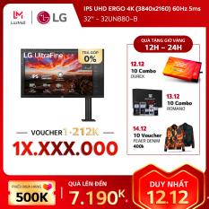 Màn hình máy tính LG IPS UHD ERGO 4K (3840×2160) 60Hz 5ms 32 inches l 32UN880-B HÀNG CHÍNH HÃNG