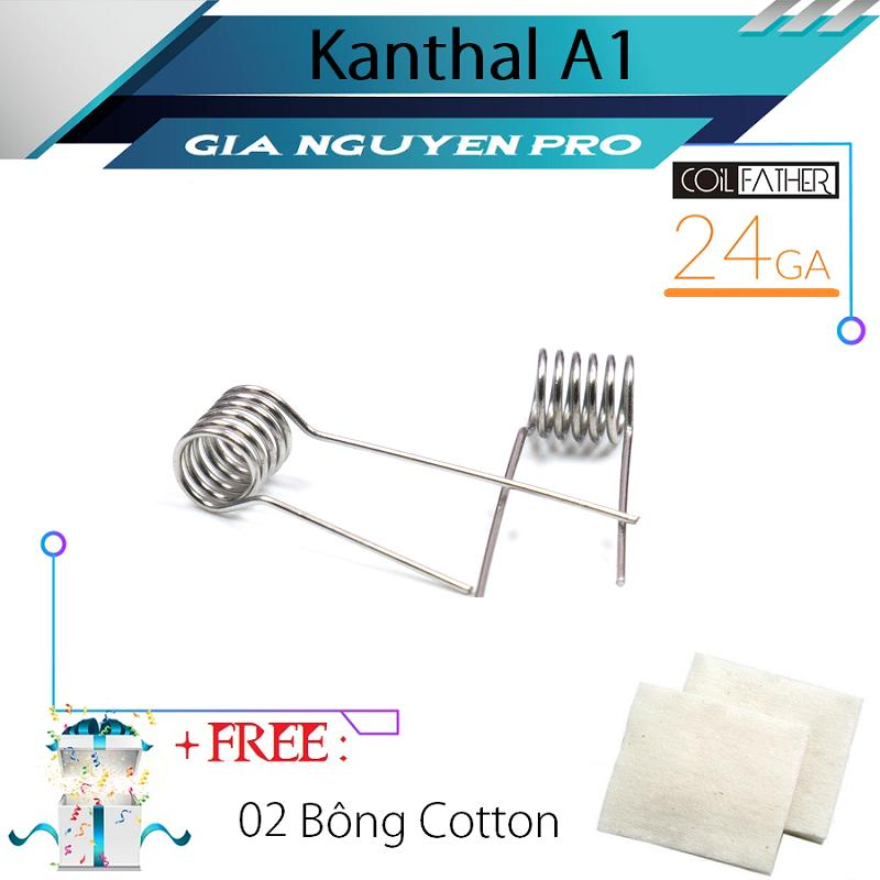 COIL-FATHER - Combo 02 Coil BASIC KANTHAL A1 Build Sẵn + Tặng 02 Bông
