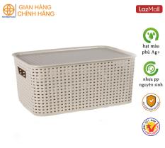 Giỏ đựng đồ có nắp nhựa Việt Nhật Plastic 3387/3388