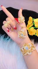 Bộ Trang Sức Nữ Vàng 18k Gadoshop VB4180629 – đeo đi tiệc đi chơi làm công sở cực sang chảnh và quý phái