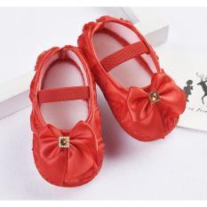 Giày Ren Hoa Đế Mêm Chống Trượt Cho Bé(6-18thang)