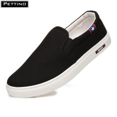 Giày slip on nam, giày vải nam, trơn màu hiện đại, giày lười nam cơ bản Pettino – LLTL03