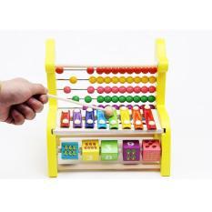 Đồ chơi bàn tính hươu và đàn gỗ cho bé