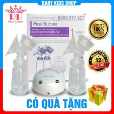 [ BH 12 tháng + Quà ] Máy hút sữa vắt sữa điện đôi Real Bubee, 9 cấp độ hút siêu mạnh, có matxa kích sữa