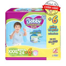 [TẶNG 6 MIẾNG] Tã Quần Bobby – Đệm Lưng Thấm Mồ Hôi XXXL24 miếng