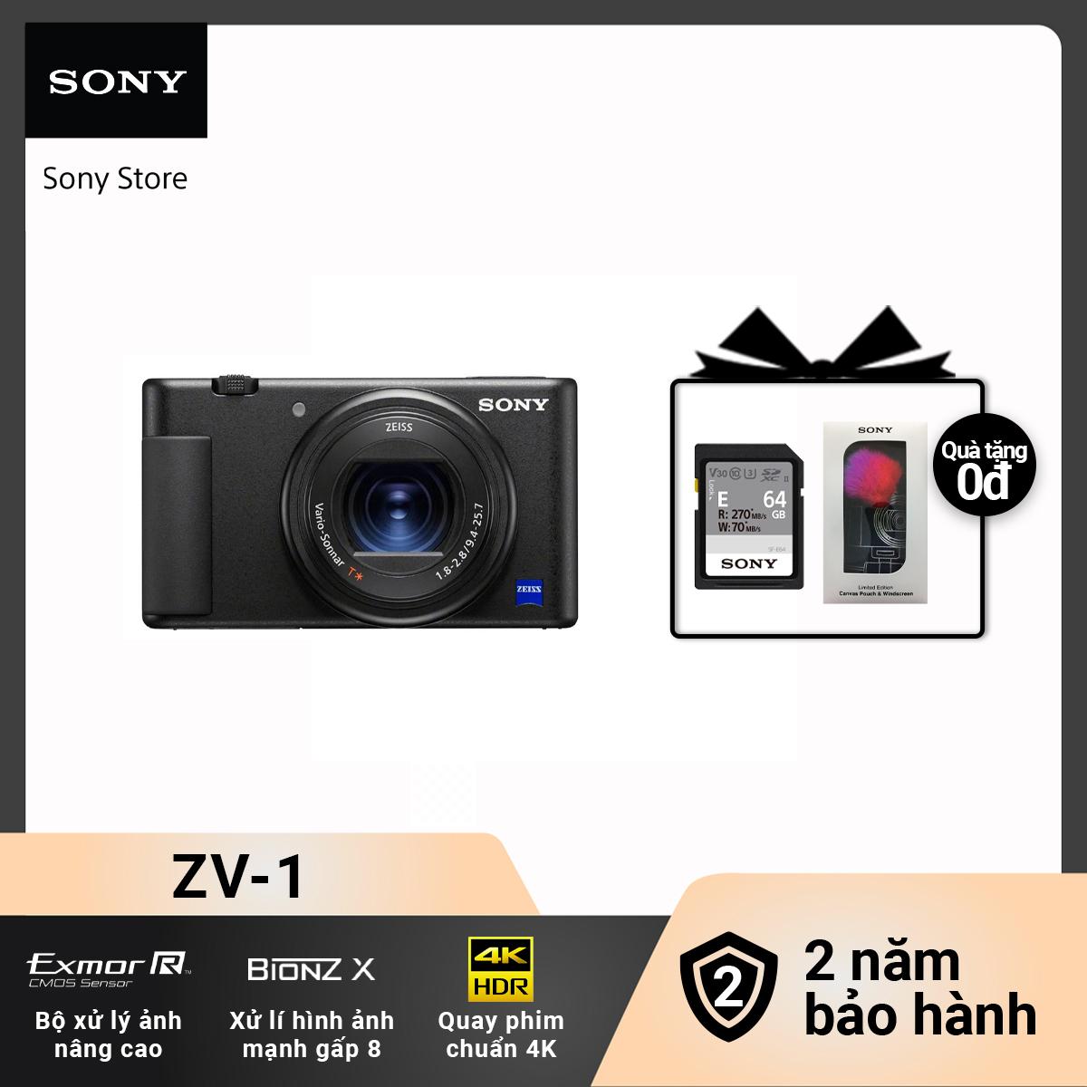 [Voucher 300k Follower][Free Gift] Máy ảnh kỹ thuật số ZV-1 (FY21BD)