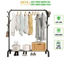 Giá treo quần áo đa năng trong nhà cây treo đồ tiện dụng để decor nhà cửa sào phơi đồ lắp ghép đơn giản