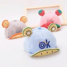 Mũ lưỡi trai hình HOA QUẢ nhiều màu cho bé trai và bé gái 6-24 tháng – MU13