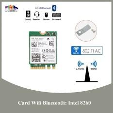 Card wifi Bluetooth INTEL AC 7260 7265 8260 8265 9260 9560 AX200 (cho máy tính xách tay)