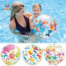 Đồ chơi trẻ em mùa hè bóng phao INTEX chơi dưới nước họa tiết đại dương đẹp mắt, đướng kính 35 cm giúp trẻ phát triển thể lực và vui chơi thư giãn