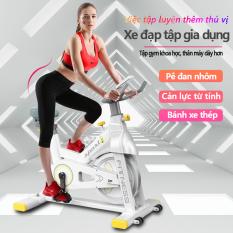 Xe đạp tập đa năng xe đạp tập gym tại nhà đa năng cản lực từ tính chống mài mòn bàn đạp nhôm bánh xe thép dụng cụ tập gym đa năng camry