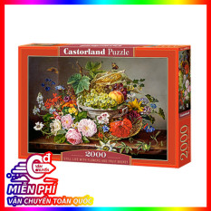 xếp hình puzzle Still Life with Flowers and Fruit Basket Castorland