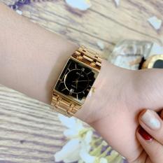 Đồng hồ Nữ Halei 564 – Vuông – dây thép không gỉ ( HL564 Dây Vàng ) – TẶNG 1 vòng tỳ hưu phong thuỷ + Pin Nhật