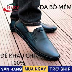 Giày lười nam MEICY, giày lười nam cao cấp da thật from chuẩn -giày mọi nam bao test lửa ,da mềm êm chân – GCS094