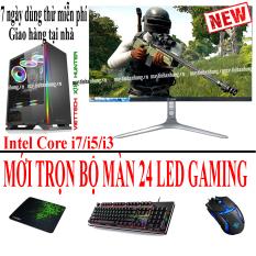 [Mới] Bộ máy tính chơi GAME màn 24 LED IPS CAO CẤP thùng led trắng(đen tùy chọn) linh kiện mới full box cấu hình siêu cao bán số lượng cho quán NET (Sản phẩm trọn bộ cài game theo yêu cầu, GAME, ĐỒ HỌA, EDIT VIDEO, YOUTOBE…)