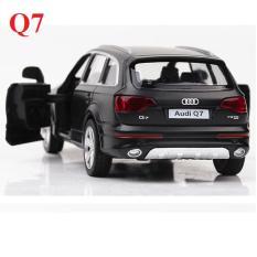 Xe ô tô đồ chơi trẻ em mô hình Audi Q7 RMZ bằng sắt chạy cót mở cửa xe 2 bên