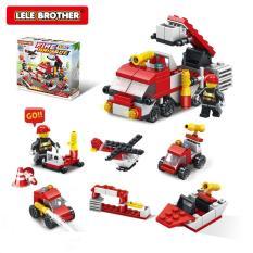 Bộ lắp ráp đội cứu hỏa Fire Brigade Team 6in1 Lele Brother (8553)