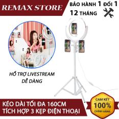 Bộ Chân và đèn LED Livestream Remax CK-01 tích hợp 3 kẹp điện thoại