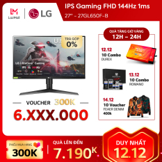 Màn hình máy tính LG IPS Gaming FHD (1920×1080) 144Hz 1ms 27 inches l 27GL650F-B | HÀNG CHÍNH HÃNG