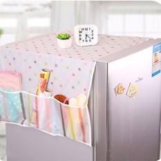 Tấm phủ tủ lạnh vải dù có họa tiết