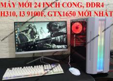 [MÁY MỚI FULL TRẮNG] Bộ máy tính để bàn pc GAMING linh kiện mới nhất H310 Intel® thế hệ 8 màn MỚI 24 inch CONG ( SẢN PHẨM TRỌN BỘ)