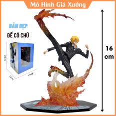 Mô Hình Vinsmoke Sanji F.zero Hắc Cước Trạng thái chiến đấu kèm hiệu ứng Cao 16cm Hắc Cước – Tượng Figure One Piece
