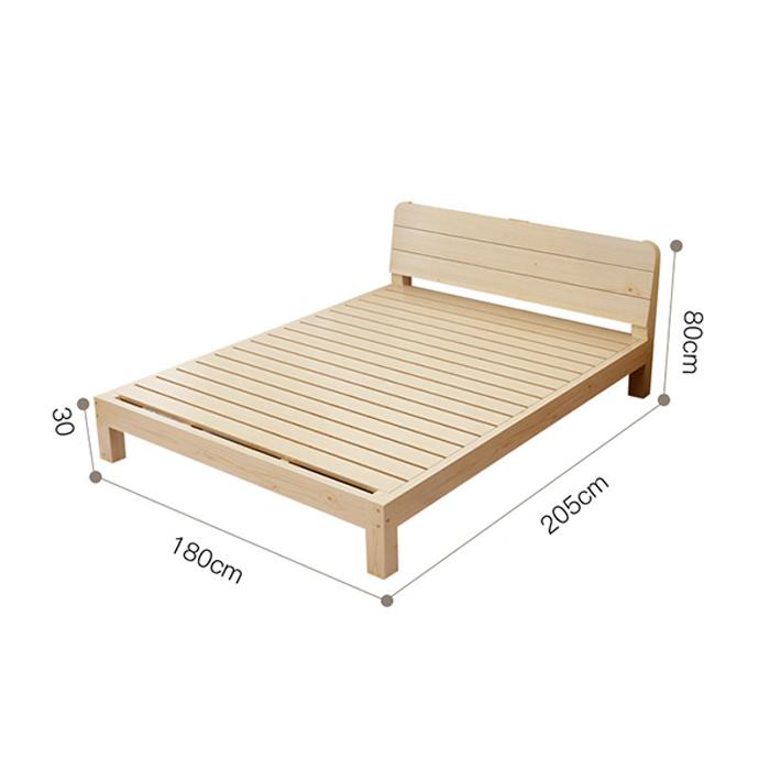 Giường gỗ thông đơn giản hiện đại sang trọng đẹp GUT004