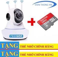 Camera YOOSEE WIFI IP XOAY 360 ĐỘ 3 RÂU 720P NEW – KÈM THẺ NHỚ 32GB