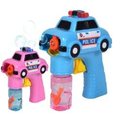 Đồ chơi máy thổi bong bóng hình xe cảnh sát có đèn nhạc dùng pin cho bé, S úng nước thổi bong bóng có đèn nhạc