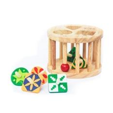Lồng tròn 6 con vụ gỗ Winwintoys 61022