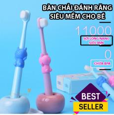 [ HOT] Bàn chải đánh răng Trẻ em – cho bé từ 1-4 tuổi, bàn chải sợi tơ siêu mềm, an toàn chho nướu, rơ lưỡi cho bé, dụng cụ vệ sinh răng miệng, TuliFly Store